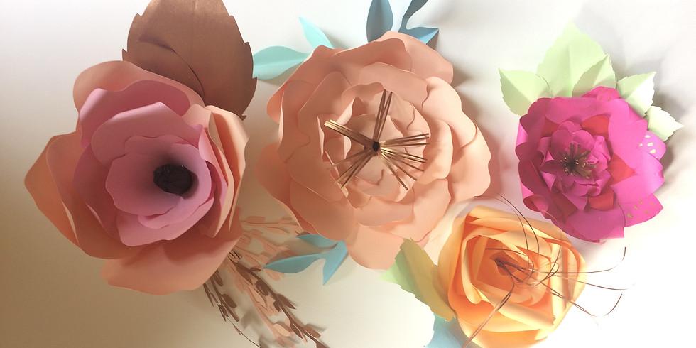 Création de fleurs en papiers