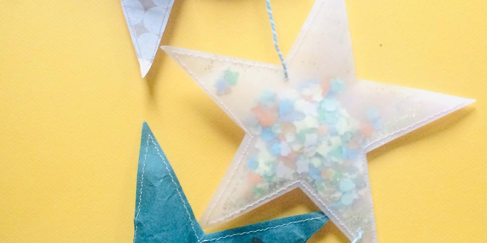 KIT CREATIF  Guirlande d'étoiles en papier