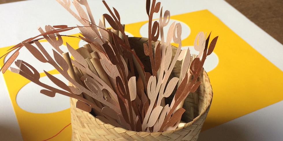 Atelier interactif - Dessine et fabrique un objet décoratif en papier: une plante ou une scénette