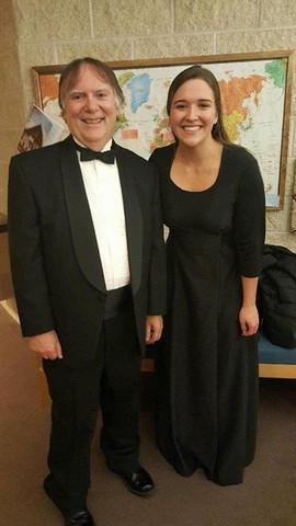 My undergraduate voice teacher, Dr. Terence Kelly