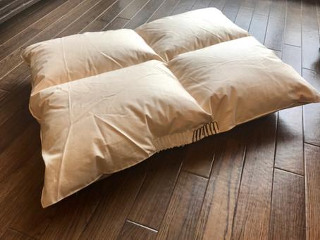 試作品の羽毛布団ベッドが仕上がりました