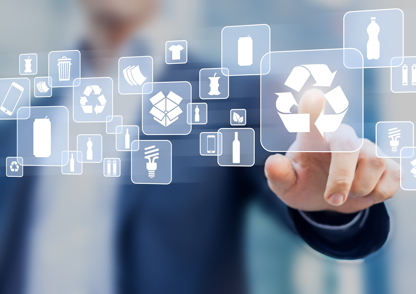 Recyclable waste materials sorting manag
