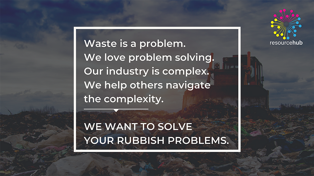 we want to solve your rubbish problems