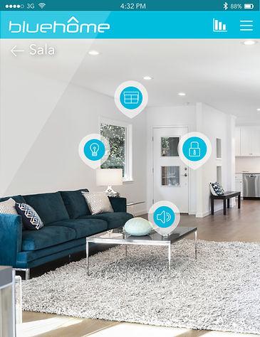 Interfaz multiplataforma para control de domótica en Casas Inteligentes BlueHome, desarrollada por B-Smart®, empresa colombiana de automatización de espacios.