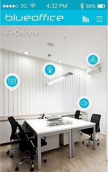 Interfaz en smartphones para control de domótica en Casas Inteligentes BlueHome, desarrollada por B-Smart®, empresa colombiana de automatización de espacios.