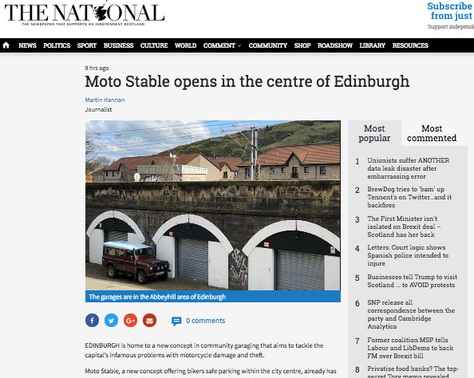 THE NATIONAL: Moto Stable opens in the centre of Edinburgh
