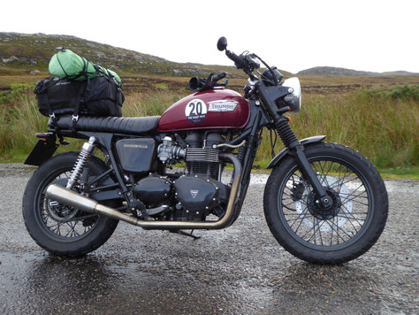 Motorcycle Camping in Scotland