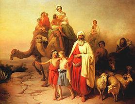 """Petit patronage sur le thème """"Dans la caravane d'Abraham..."""""""