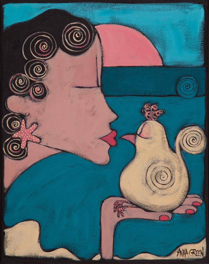 kissing bird