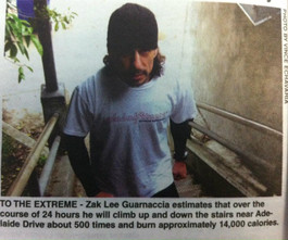 24hr non-stop stair climbing in Santa Monica California.