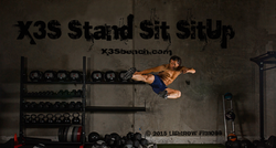 Zak photo shoot with the X3S Bench