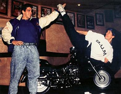 Zak with Lou Ferrigno