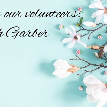 From our Volunteers: Steph Garber