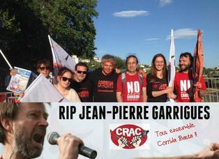 R.I.P.Jean-Pierre Garrigues