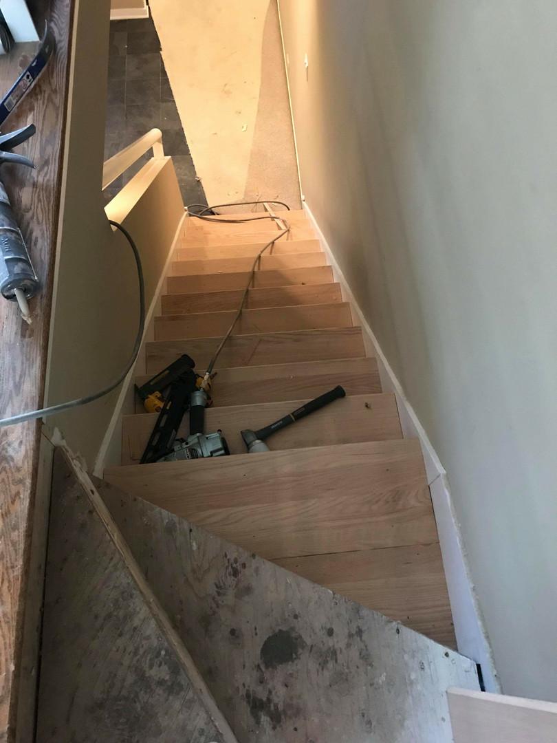 Before top of Stirway