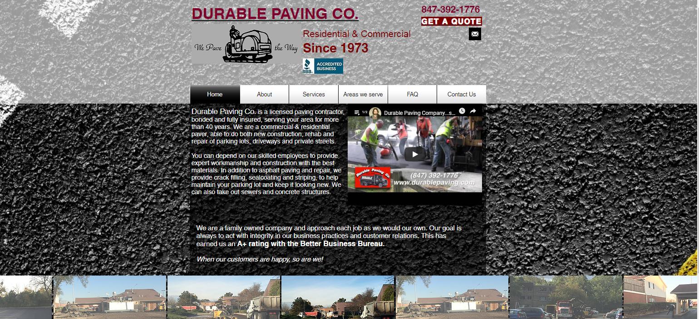 Durable Paving website