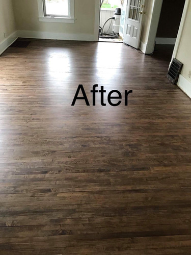 After Refinished Flooring