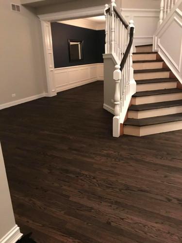 After stairway to floor