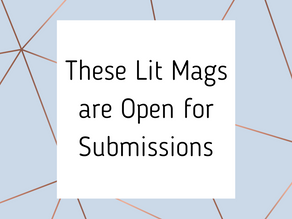 These Lit Mags are Open for Submissions (Jan. 31, 2021)