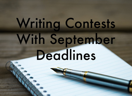 Writing Contests to Enter in September