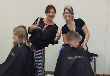 Sonya Shelby Illusions Salon Community service kids hair cuts going back to school