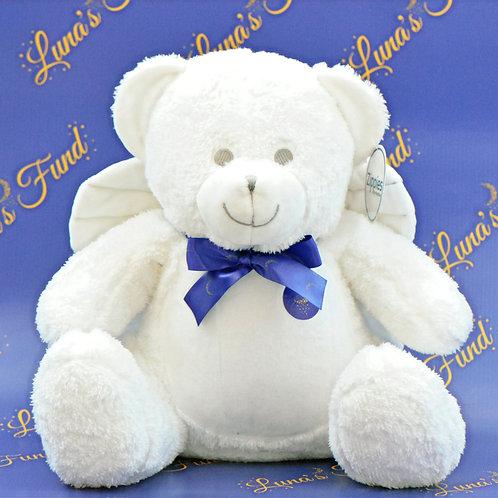White Angel Memory Bear with Logo