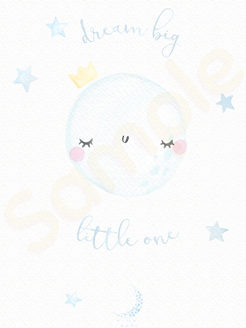 Downloadable Dream Big Little One Lashes Nursery Print