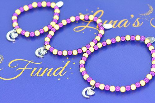 Disco Beads with Moon Charm