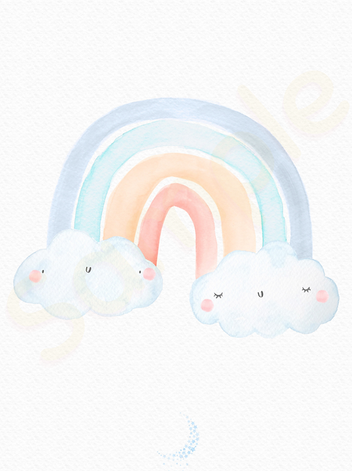 Downloadable Rainbow Nursery Print