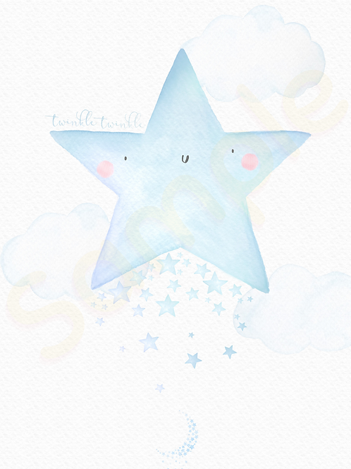 Downloadable Blue Star Nursery Print