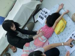 Growing-up child massage