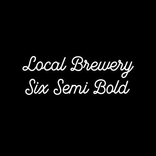 LOCAL BREWERY | SIX SEMI BOLD FONT