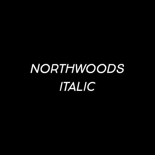 Northwoods Light Italic Font - 1 User