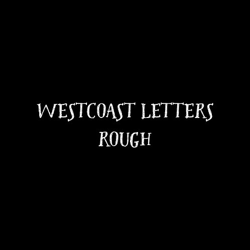 Westcoast Letters Rough Font - 1 User