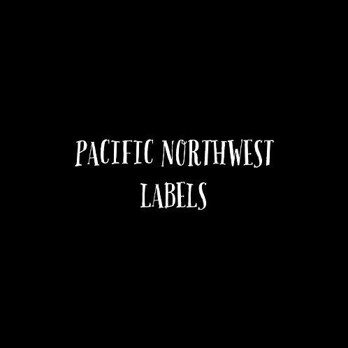 Pacific Northwest Letters Labels Font & Vector Art - 1 User