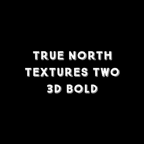 True North Textures Two 3D Bold Font - 1 User