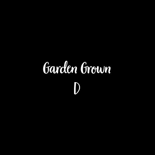 Garden Grown D Font - 1 User