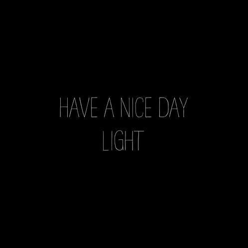 Have A Nice Day Basic Light Font - 1 User