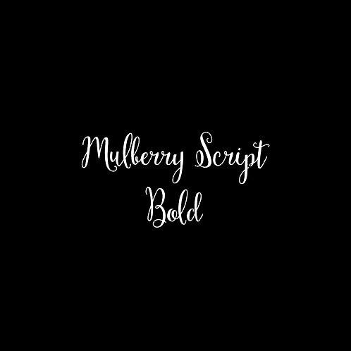Mulberry Script Bold Font - 1 User
