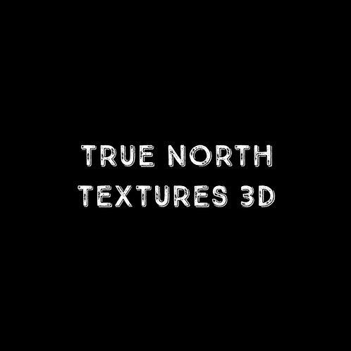 True North Textures 3D Font - 1 User