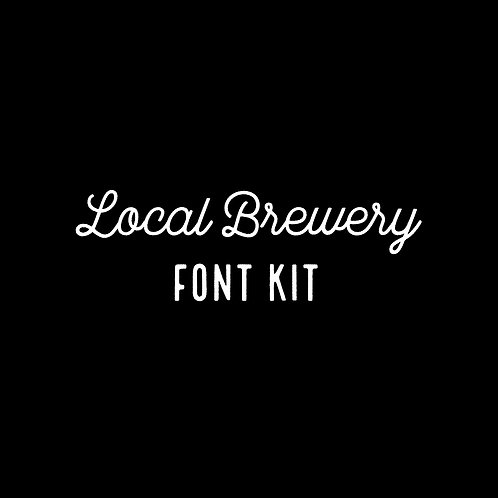 LOCAL BREWERY | FONT KIT