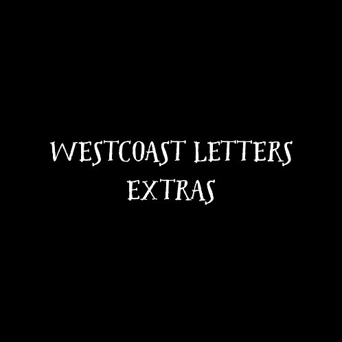 Westcoast Letters Extras Font & Vector Art - 1 User