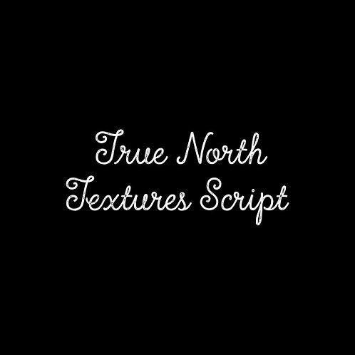 True North Textures Script Font - 1 User