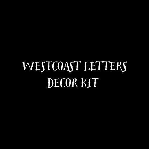 Westcoast Letters Decor Font Kit - 1 User