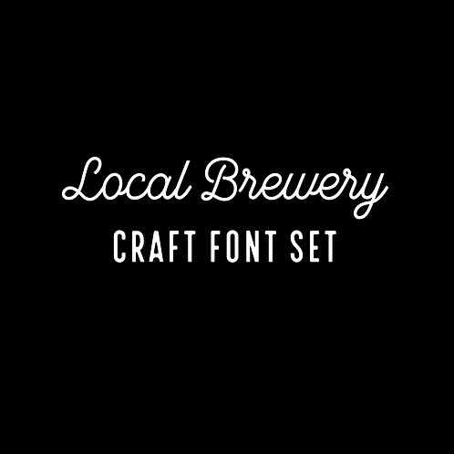 LOCAL BREWERY | CRAFT FONT SET