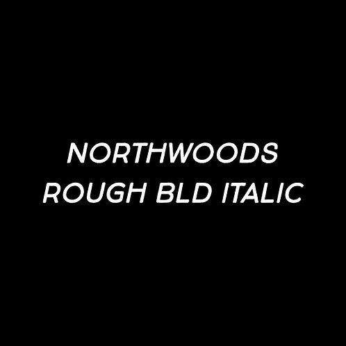 Northwoods Rough Bold Italic Font - 1 User