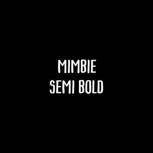 Mimbie Semi-Bold Font - 1 User