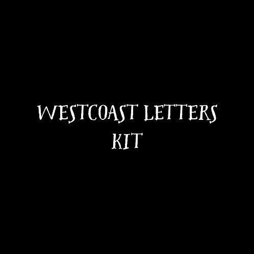 Westcoast Letters Font Kit - 1 User