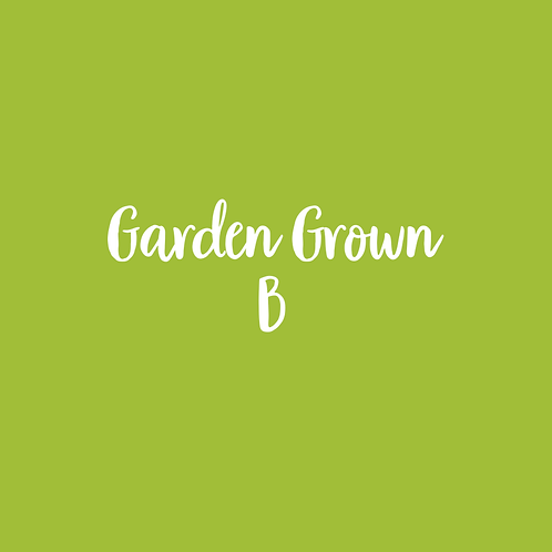 GARDEN GROWN | B FONT