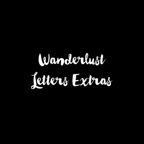 Wanderlust Letters Extras Font & Vector Art - 1 User